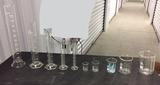 Assorted Glass Graduated Cylinders & Glass Graduated Beakers