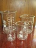 4 Glass Beakers - 100 mL, 25 mL, 600 mL, 1000 mL
