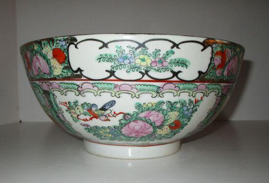 """10"""" Rose Medallion Semi Porcelain Bowl"""