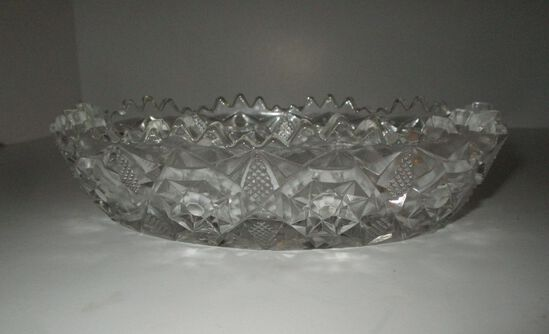 """7.5"""" Oval Pressed Glass Bowl"""