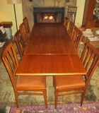 Awesome High Quality Dining Table & 8 Chairs - Purchased in Belgium in 1956. - 86