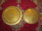 Lot - 2 Brass Trays (17.5