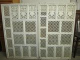 2 Painted Wood Panels - very decorative - many uses