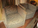 Pair of Upholstered Swivel Club Chairs - Robin Bruce Originals  - 32