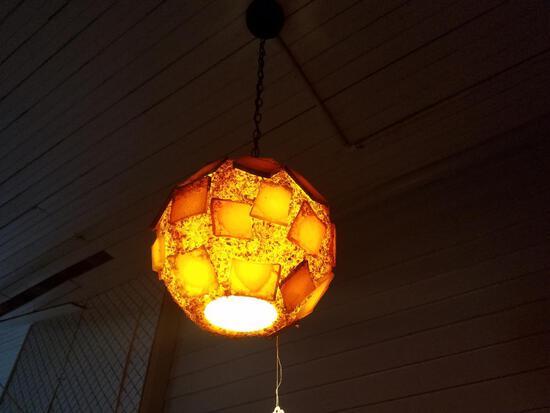 Oh So Retro - Hanging Lamp in Hues of Orange