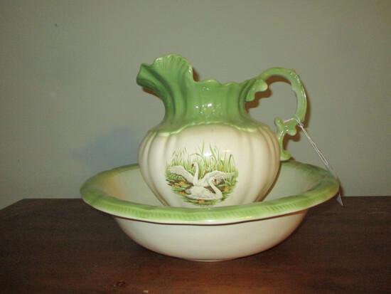 "16"" Wash Basin & Pitcher - Ceramic"