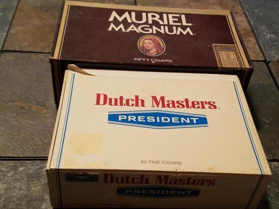 2 Vintage Cigar Boxes