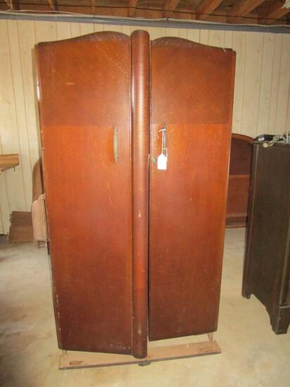 """Deco Style Double Door Wardrobe - needs TLC - 36""""w X 18"""" d X 65"""" t"""