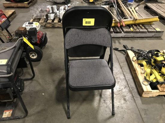 Padded Folding Chairs, Qty.3