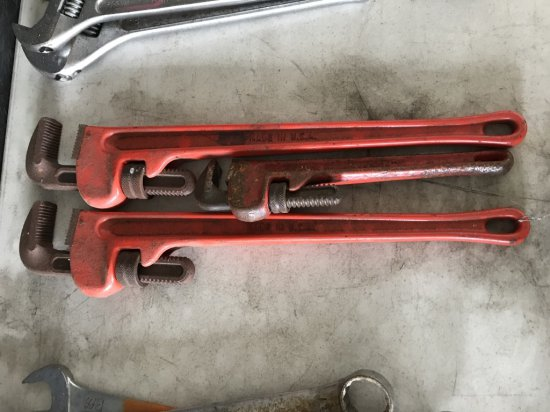 Ritco Straight Pipe Wrenches, Qty. 3