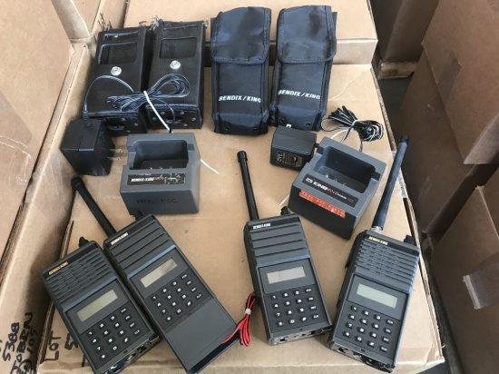 Bendix King 2 Way Radios, Qty 4
