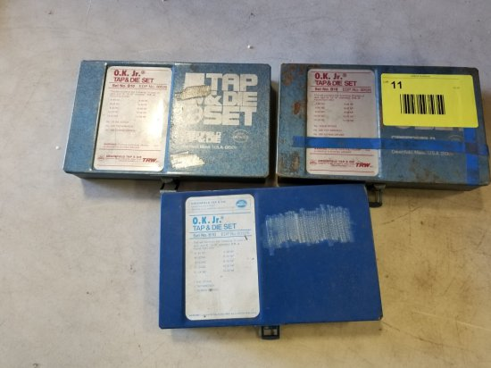 OK Jr Tap and Die Sets, Qty 3