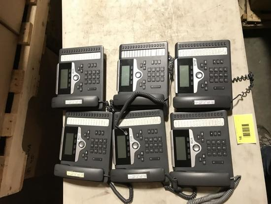 Cisco CP7861 VOIP Phones, Qty 6