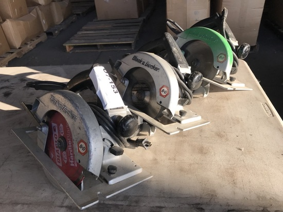 Black & Decker Circular Saws, Qty 3
