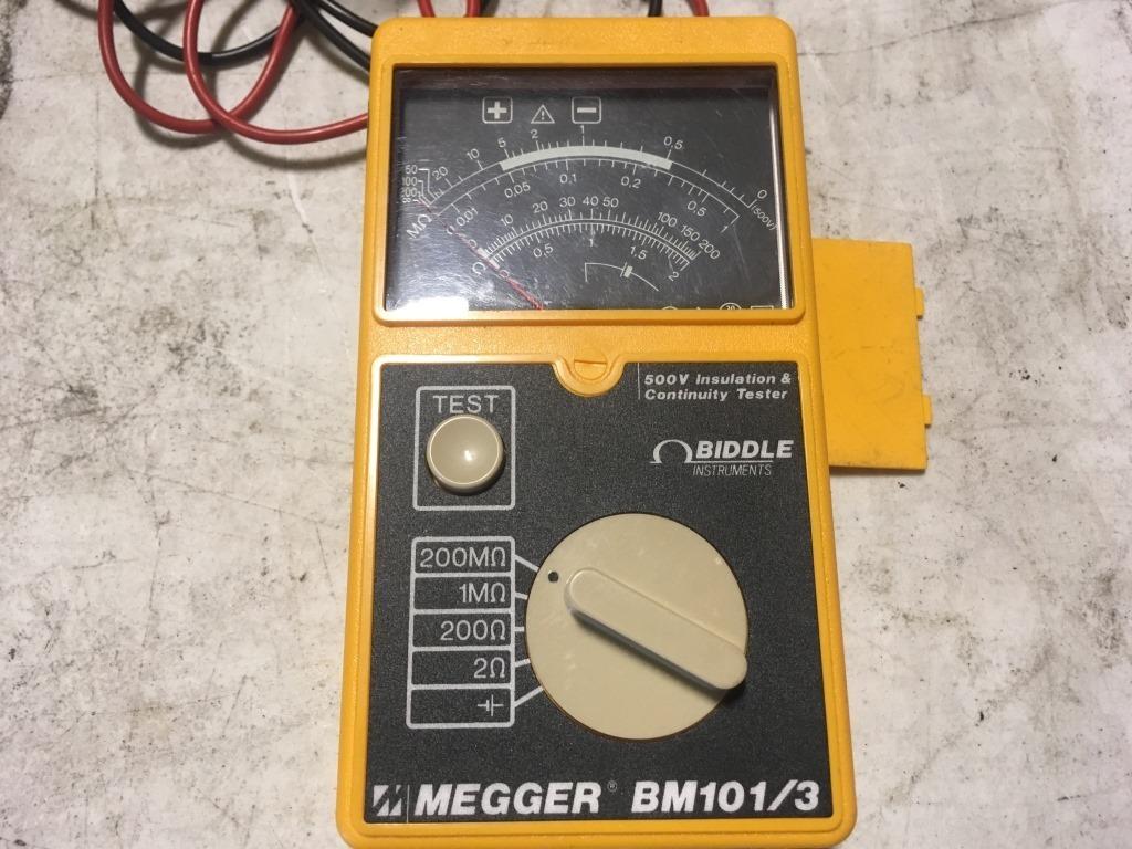 Biddle Megger Bm101 3 Circuit Tester Industrial Machinery Equipment General Merchandise Auctions Online Proxibid