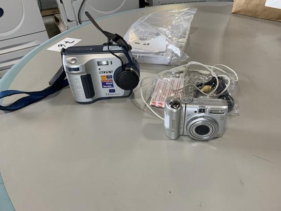 Sony & Canon Digital Cameras Qty 2