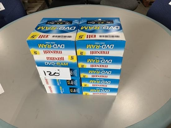 Maxwell DVD Ram Cartridges Qty 10 Boxes