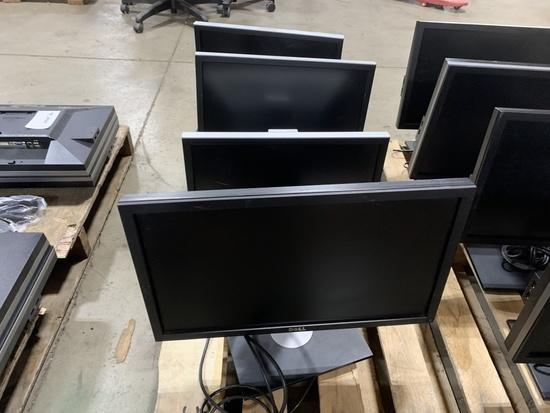 Dell Flat Panel Monitors, Qty. 4