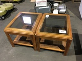 Wood End Tables Qty 2