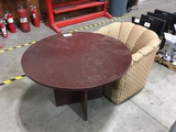 Wood Table & Lounge Chair