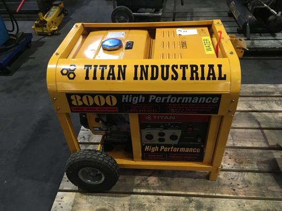 Titan Industrial 8000 Watt Generator