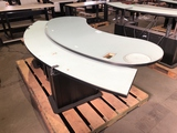 Curved Executive Receptionist Desk