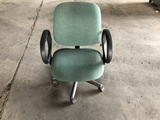 Green Rolling Office Chairs Qty 4