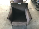 Brown Cloth Lounge Chair