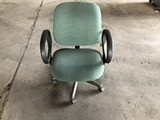 Green Rolling Office Chairs Qty 2