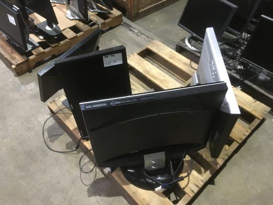 Dell & View Sonic Monitors, Qty. 4