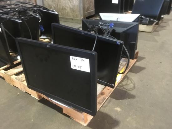 Dell & HP Monitors, Qty. 4