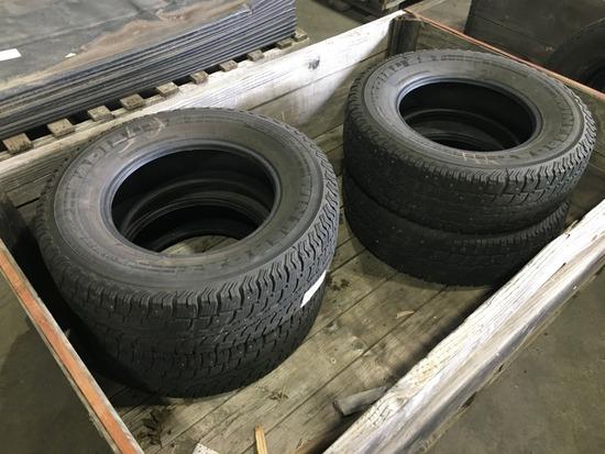 LT245/75R17 Studded Tires, Qty. 4