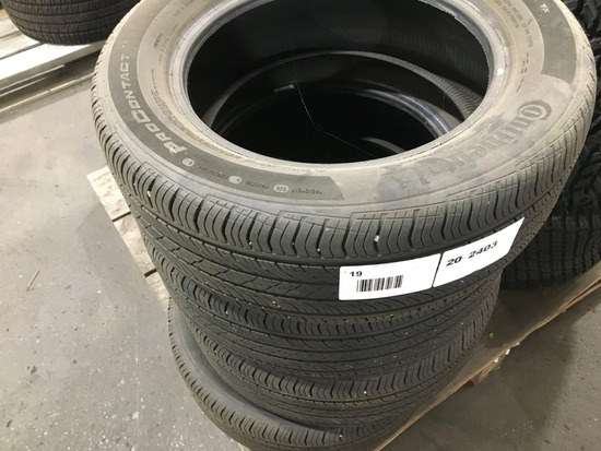 Continental 215/55R16 Tires, Qty. 4