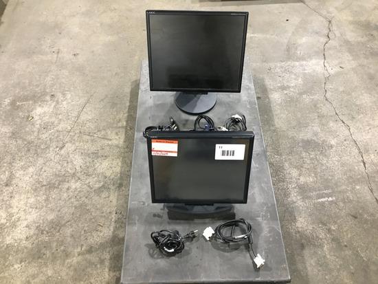 NEC Multisync LCD Monitors, Qty 2