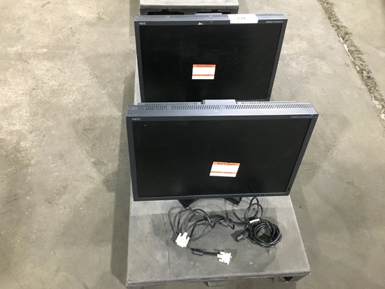 NEC Multisync LCD Monitors, Qty. 2