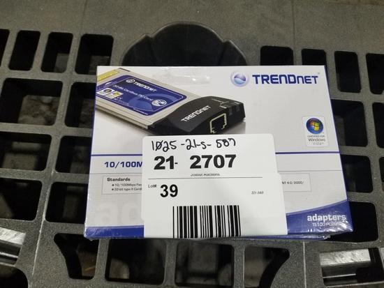 Trendnet Ethernet PC Cards, Qty. 2