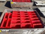 Uline Red Storage Bins, Qty. 22