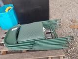 Green Folding Chairs, Qty. 4