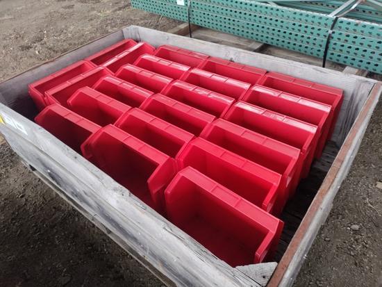 Plastic Storage Bins, Qty. 22