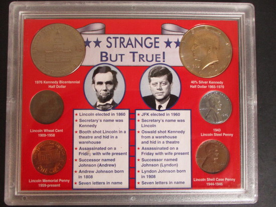 Lincoln/Kennedy Coincidences Coin Set