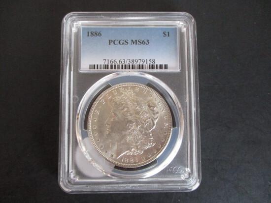 1886 PCGS MS63 Morgan Silver Dollar