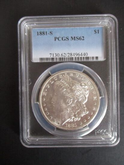 1881-S PCGS MS62 Morgan Silver Dollar