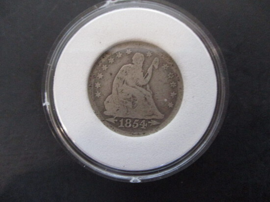 1854 Liberty Seated Quarter