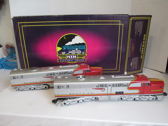 M.T.H. Electric Trains Santea Fe Alco PA AA Diesel Set