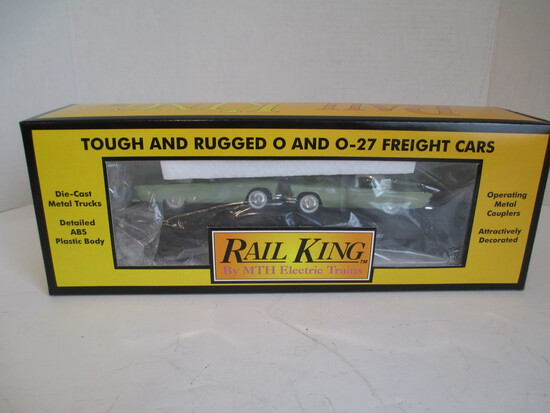 M.T.H. Electric Trains Auto Transport Flat Car W/T'Birds