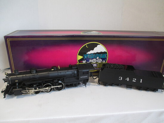 M.T.H. Electric Trains 4-6-2 Die-Cast Pacific Steam Engine And Tender