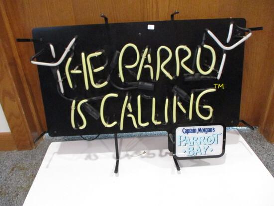 "Captain Morgan Parrot Bay ""The Parrot Is Calling"" Neon Light"