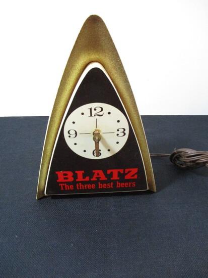 Vintage Blatz Arrow Clock