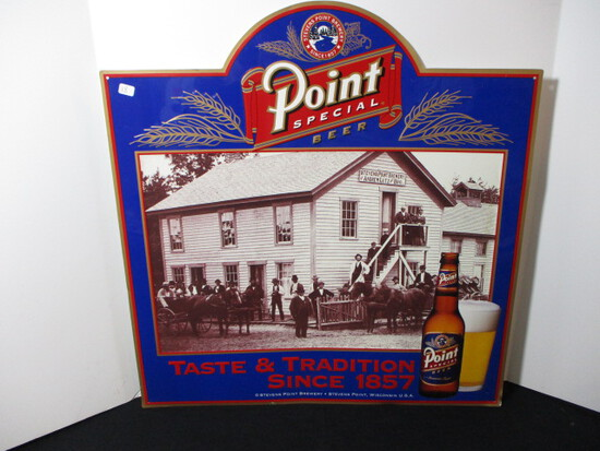Point Special Beer Tin Advertising Sign