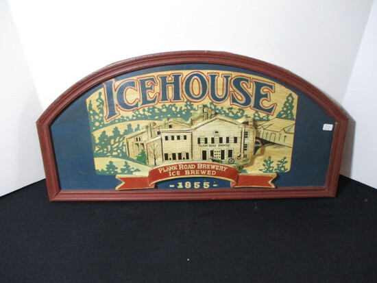 Ice House Wooden 3D Advertising Sign